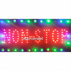 Reclama Luminoasa Panou LEDuri Interior Non-Stop 50x25cm