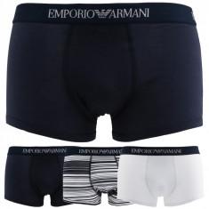Boxeri barbati Emporio Armani model 3PACK_7P722, culoare Albastru, marime S EU