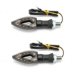 Set 2 Semnale Semnalizari Moto Scuter - LED ( carbon )