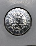 Moneda 5 Euro Austria 2004 100th Anniversary of Football UNC
