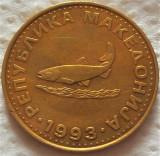 Moneda 2 DENARI - MACEDONIA, anul 1993 *cod 2357 - EXCELENTA!