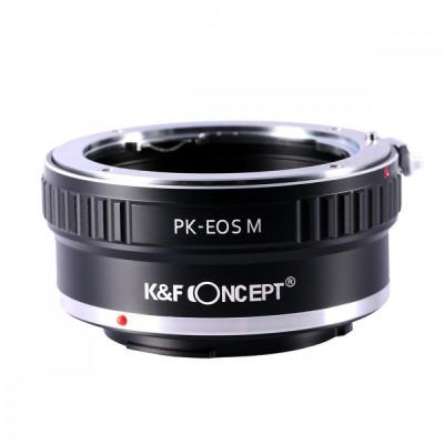 K&F Concept PK-EOS M adaptor montura de la Pentax K la Canon EOS M KF06.123 foto