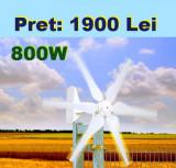 Turbina eoliana 800W 12V/24V + controller MPPT