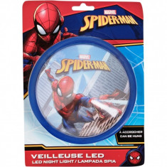 Lampa de veghe LED Spiderman Blue SunCity, 14 x 14 x 5 cm