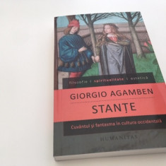 GIORGIO AGAMBEN, STANTE. CUVANTUL SI FANTASMA IN CULTURA OCCIDENTALA