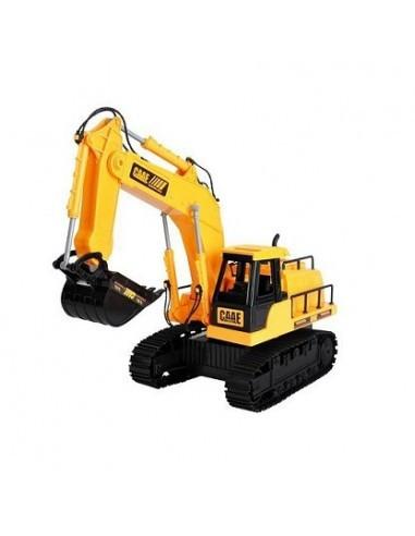 Jucarie excavator cu telecomanda, 1:24, galben
