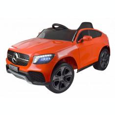 Masinuta electrica Premier Mercedes GLC Concept Coupe, 12V, roti cauciuc EVA, scaun piele ecologica, rosu