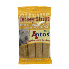 Cumpara ieftin Recompense pentru caini Antos, Fasii, Pui, 20 buc, 200 g