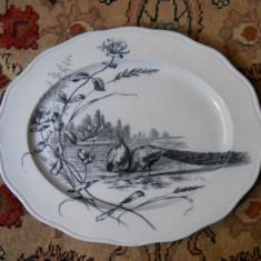 Platou oval portelan englezesc,marcat BWM&Co,fine sec.19,48x39cm