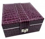 Cumpara ieftin Cutie de bijuterii Purple Croco