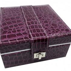 Cutie de bijuterii Purple Croco