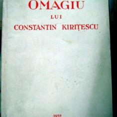 Omagiu lui Constantin Kiritiescu