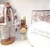 Cumpara ieftin Set Traditional Botez Baiat - Costumas + Trusou + Cutie + Lumanare 4
