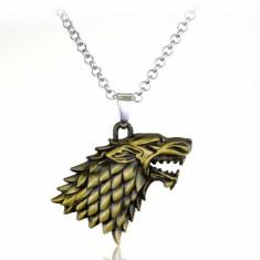 Pandantiv Medalion Lantisor Game Of Thrones Wolf Lup Game Of Thrones Winter Is Coming Stark Bronze