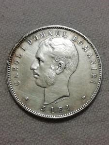 5 lei 1906, Carol I - Argint