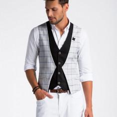 Vesta premium, eleganta, barbati - V49-gri