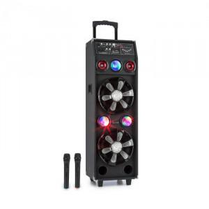 Auna DisGo Box 2100, sistem PA, 100W RMS, BT, slot SD, LED, USB, baterie, negru