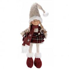 Inger decorativ portelan textil cu rochita Girl cm 14x60 H