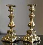 Cumpara ieftin Pereche sfesnice evreiesti vechi M. Jarra Krakow - alama ambutisata - secol XIX