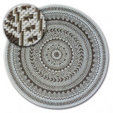 Covor rotund sisal Flat 48695/768 Vitraliu, cerc 120 cm