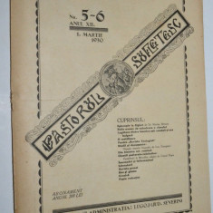 Revista teologica Pastorul sufletesc NR. 5- 6  , Lugoj 1930