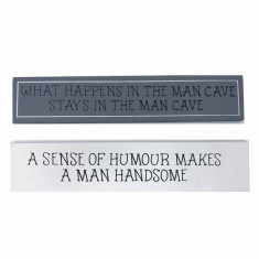 Set 2 Tablouri motivationale Man cave 4 X 20 cm