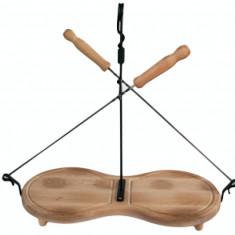 Platou lemn set 2 tepuse frigarui 35cm si solnita, Osmorca, 011782,