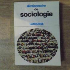 DICTIONNAIRE DE SOCIOLOGIE , LAROUSSE