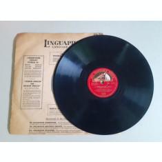 Disc gramofon, interbelic, Tosca, (deteriorat)