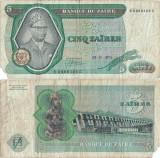1975 ( 24 XI ) , 5 zaïres ( P-21a.3 ) - Zair