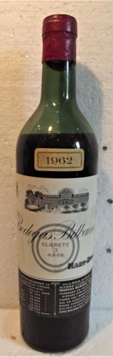 32 - VIN  rosu botegas bilbainas, recoltare 1962 cl 72 gr