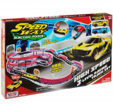 Set de joaca cu 2 masinute High Speed 3 Level Racing, Track Motormax