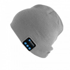 Caciula de iarna, cu bluetooth si handsfree, gri, Gonga