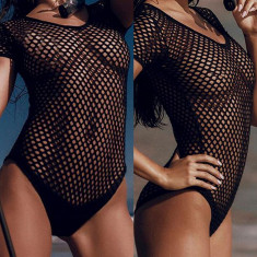 Lady Lust Lingerie Costum de Baie Teddy Mesh Monokini Transparent