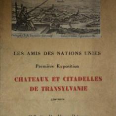 LES AMIS DES NATIONS UNIES. CHATEAUX ET CITEDELLES DE TRANSYIVANIE.GRAVURES collection DR. MIRCEA PETRESCU 1945