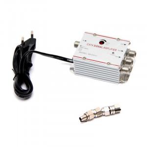 Amplificator de semnal TV cu trei iesiri 20 dB - alimentare priza 220V