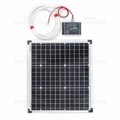 Panou solar monocristalin 30W cu regulator de încărcare