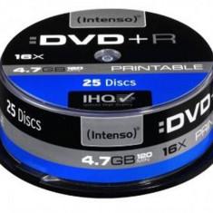 Mediu optic Intenso DVD-R 4.7GB 16x 25 bucati Printabil