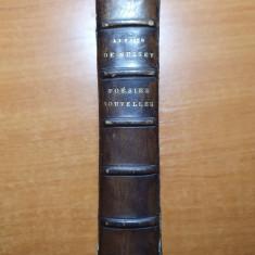 carte din anul 1889-poezii si nuvele de alfred de musset in limba franceza