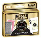 Copag. Carti de joc Texas Hold'em. Pachet dublu + Jeton dealer 100% plastic