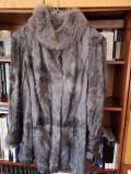 Vând haina de blana de ied mongolez ECHT PELZ gri ,marime 46-48