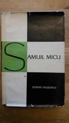 SAMUIL MICU- SCRIERI FILOZOFICE foto