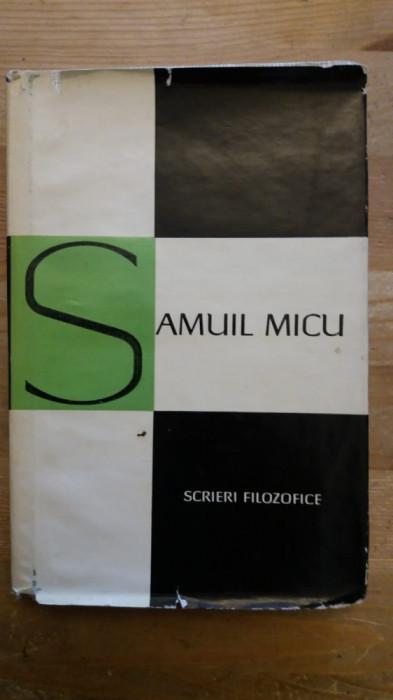 SAMUIL MICU- SCRIERI FILOZOFICE