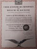 Titlu de Stat 1000 Franci Aur 1931 Royaume Roumanie obligatiune neincasata, Generic