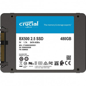 Solid-State Drive (SSD) CrucialA® BX500, 480GB 3D, NAND, SATA 2.5