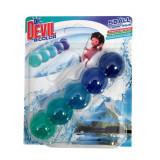Cumpara ieftin Odorizant WC DR. DEVIL 5 Ball, Bicolor Polar Aqua, 35 g, Bile Odorizante Toaleta, Odorizant Toaleta, Odorizant Anticalcar pentru WC, Odorizant pentru