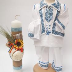Set Traditional Botez Costumas baiat Lumanare baiat