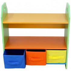 Raft carti si jucarii cu cadru din lemn Green Crayon