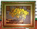 Tablou pictat manual pe panza in ulei, A-047, Natura, Realism