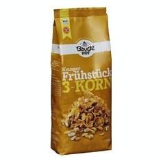 Mic Dejun Crocant cu 3 Cereale Fara Gluten Bauck Hof 225gr Cod: 440831